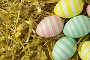 Wallpapers Easter Egg Stripes Multicolor Straw