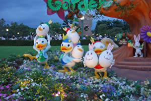 Bilder Ostern Japan Präfektur Tokio Parks Design Eier Disney Resort