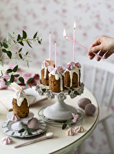 Pictures Easter Baking Candles Sweets Hands Egg Design