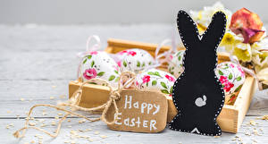 Pictures Easter Rabbit Egg Lettering English