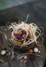Wallpaper Easter Boards Straw Egg Multicolor Food