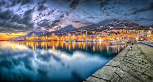 Images Evening Coast Italy Sea HDR Salerno