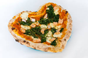 Wallpapers Fast food Pizza Gray background Heart