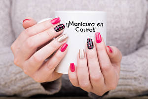Pictures Fingers Hands Sweater Manicure Mug Word - Lettering