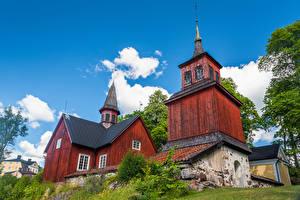 Hintergrundbilder Finnland Tempel Kirche Fagervik Church