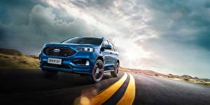 Pictures Ford Blue Asphalt Edge ST China auto