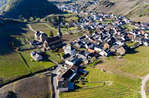 Hintergrundbilder Deutschland Gebäude Acker Von oben Mayschoss Städte