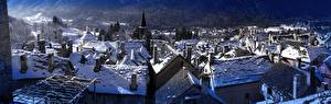 Bilder Gebäude Italien Winter Schnee Dach Craveggia, Piedmont