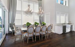 Image Interior Design Lounge sitting room Chair Chandelier