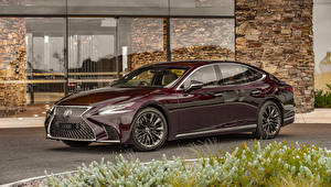 Картинка Lexus Бордовый Металлик 2019-20 LS 500 Inspiration Series машины