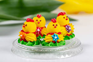 Wallpapers Little cakes Chicks Design Food