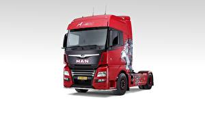 Desktop hintergrundbilder MAN SE Grauer Hintergrund Vorne TGX, Lion 500 Edition auto