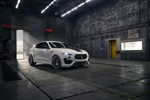 Bilder Maserati Softroader Weiß Metallisch Rosso, Novitec, 2020, Q4, GranSport, Levante S, Esteso V2