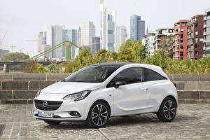 Sfondi desktop Opel Bianco Metallico 2014-20 Corsa Color Edition 3-door autovettura