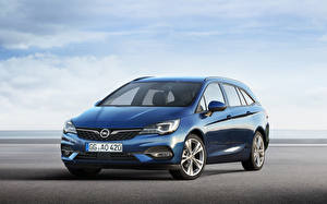 Fonds d'écran Opel Bleu ciel Métallique 2019-20 Astra Sports Tourer Worldwide