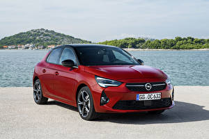Fonds d'écran Opel Rouge 2019-20 Corsa GS Line automobile