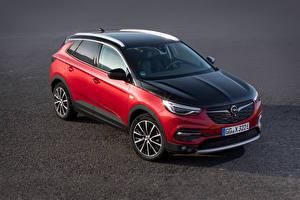 Fonds d'écran Opel Rouge Métallique 2019-20 Grandland X Hybrid4