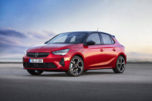 Fonds d'écran Opel Rouge 2019 Corsa GS Line voiture