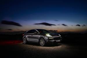 桌面壁纸,,保时捷,混合動力車輛,轎跑車,金屬漆,2019-20 Cayenne E-Hybrid Coupe,