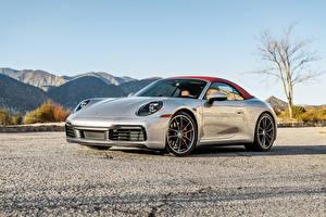 Bilder Porsche Silber Farbe Cabriolet 2020 911 Carrera S Cabriolet auto