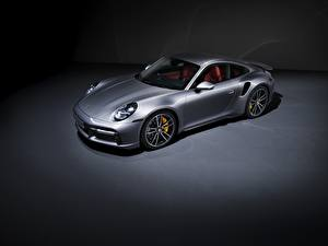 Image Porsche Coupe Metallic Silver color 911, Turbo S, 2020, 992 Cars