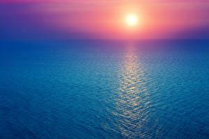 Bilder Meer Morgendämmerung und Sonnenuntergang Sonne