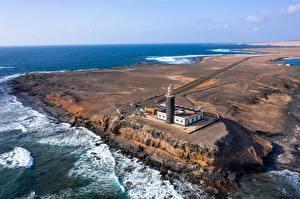 Fotos Spanien Ozean Leuchtturm Kanarische Inseln Von oben