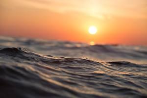 Fotos Morgendämmerung und Sonnenuntergang Meer Wasser Sonne
