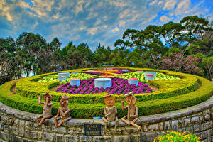 Picture Taiwan Parks Sculptures HDR Design Shrubs Yangmingshan National Park Nature