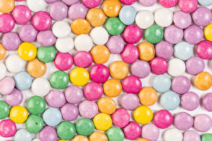 Photo Texture Confectionery Dragee Multicolor Food