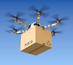 Fotos UAV Flug Schachtel hexacopter
