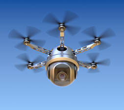 Bilder UAV Flug Videokamera hexacopter 3D-Grafik