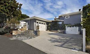 Bakgrunnsbilder USA Bygninger Herregård Design Garasje En trapp Laguna Beach Byer