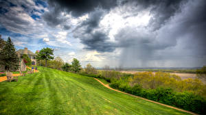 Fotos Vereinigte Staaten Himmel Rasen Sessel Wolke HDRI St. Louis County Missouri