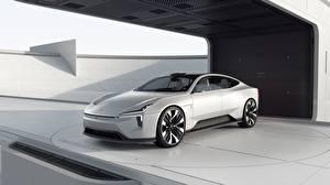 Bilder Volvo Weiß Metallisch Limousine Polestar, Precept, concept
