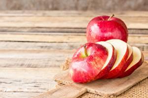 Bilder Äpfel Schneidebrett Geschnitten