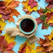 Hintergrundbilder Herbst Tee Becher Schal Blatt