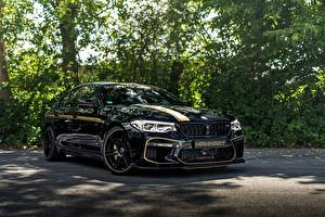 Sfondi desktop BMW Metallizzato Nero 2018 Biturbo M5 Manhart V8 F90 MH5 700 macchina