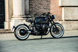 Hintergrundbilder BMW - Motorrad Seitlich Schwarz 2018-20 Ares Design Scrambler