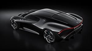Hintergrundbilder BUGATTI Von oben Schwarz Karbon La Voiture Noire Autos