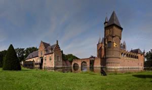 Bilder Burg Niederlande Gras Heeswijk castle, North Brabant