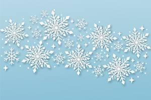 Bilder Neujahr Schneeflocken Natur