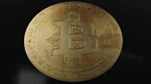 Bakgrunnsbilder Nærbilde Mynter Penger Bitcoin Gylden
