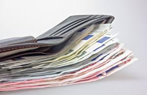 Fotos Hautnah Geld Papiergeld Euro Viel Grauer Hintergrund Geldbörse