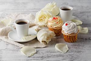 Photo Coffee Pound Cake Roses Mug Flowers