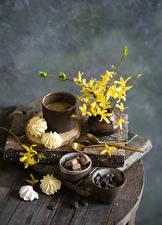 Fotos Kaffee Zefir Vase Ast Becher Getreide Löffel Lebensmittel