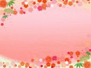 Hintergrundbilder Farbigen hintergrund Bretter Vorlage Grußkarte Blumen