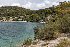 Hintergrundbilder Kroatien Küste Hügel Strauch Mljet Island Natur