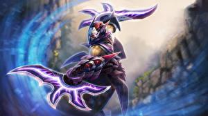 Photo DOTA 2 Anti-Mage Warrior Battle axes vdeo game Fantasy