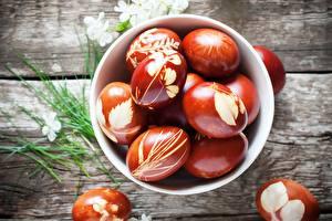 Fotos Ostern Ei Schüssel Lebensmittel